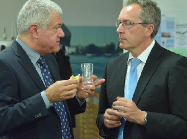 Hauptamtsleiter Christoph Huber (rechts) und sein französischer Kollege Jacques Romon