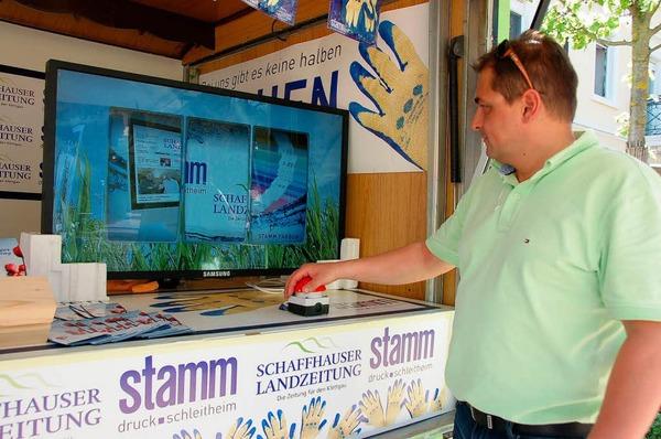 Auch Schweizer Unternehmen präsentierten sich beim Stühlinger Frühling.