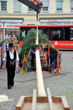 Bunt geschmückt, der Handwerkerbaum.