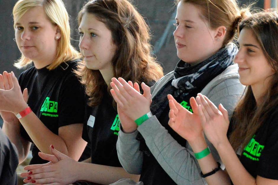 Jugendliche des Jupa in Aktion (Foto: Ingrid Böhm-Jacob)