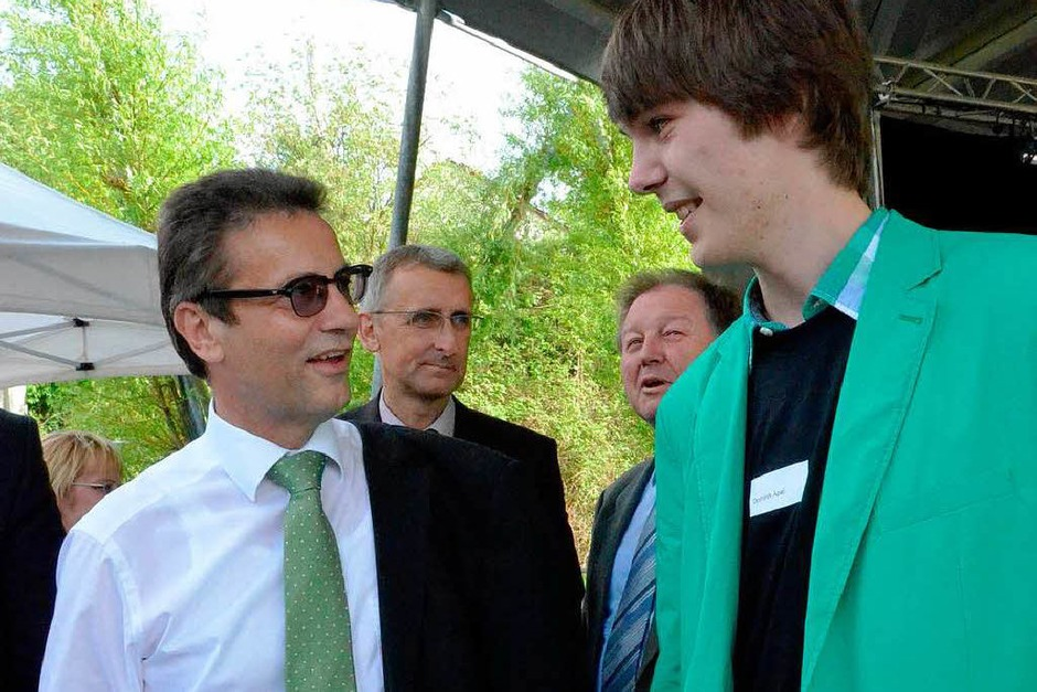 Von Jugendpolitiker zu Landespolitiker: Dominik Apel (rechts) im Gespräch mit Peter Hauk (Foto: Ingrid Böhm-Jacob)