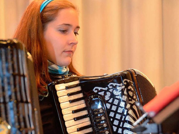 Der Handharmonikaverein sorgte für die Unterhaltung der Gäste