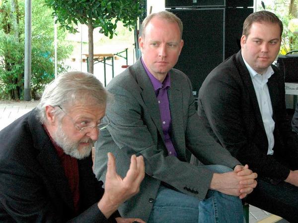 v.l. Alfred Winkler, Timm Kern und Felix Schreiner