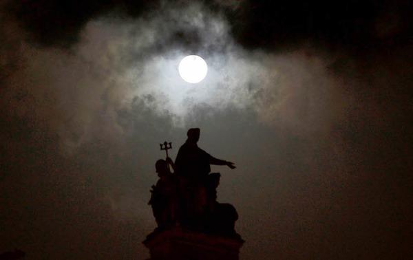 Mond in Mumbai, Indien