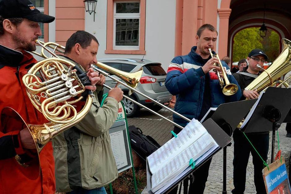Das Brass-Quintett aus der Ukraine. (Foto: Sebastian Barthmes)