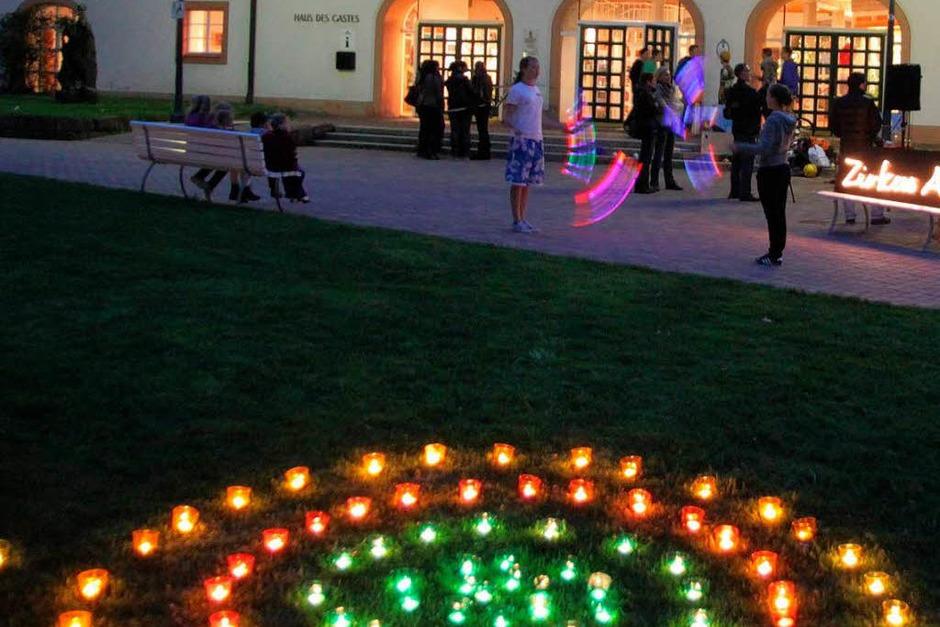 Licht- und Feuerspiele am samstag im Kurpark (Foto: Klaus Brand)