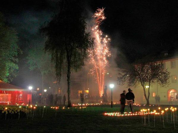 Licht- und Feuerspiele am samstag im Kurpark
