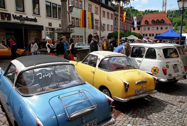 Impressionen vom Oldtimersonntag der Werbegemeinschaft Waldkirch am 6. Mai 2012