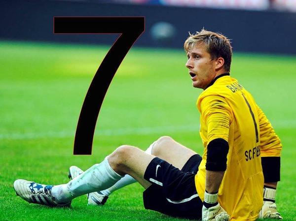 7: Am 10. September 2011 verlor der SC mit 0:7 gegen Bayern M�nchen und kassierte die h�chste Ausw�rtsniederlage seiner Bundesliga-Geschichte.