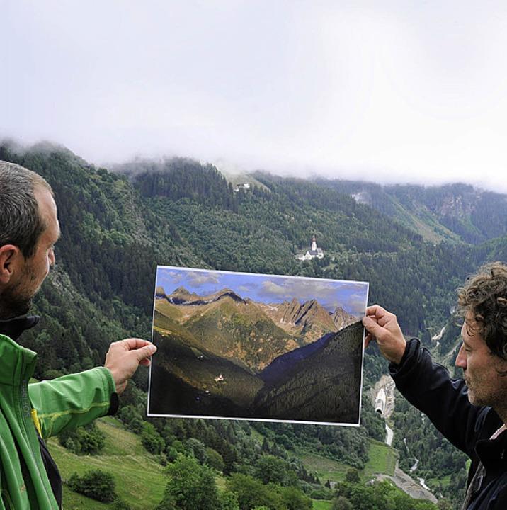 Traum(foto) und Wirklichkeit in Kaunerberg    Foto: Andrea Schiffner