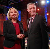Wahl-Countdown in NRW: Herzdame gegen Mr. Blitzgescheit