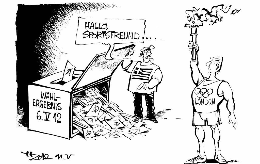 Horst Haitzinger Karikatur Griechenland