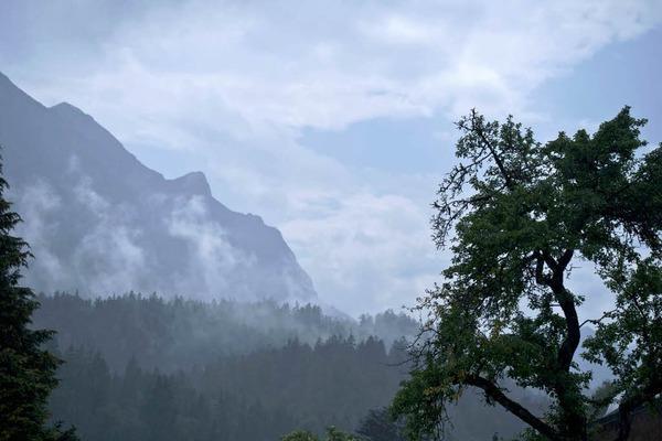 Nach dem Regen: am Riedener See im Lechtal