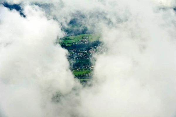 Blick vom  Hafelekar auf Innsbruck, Naturpark Karwendel