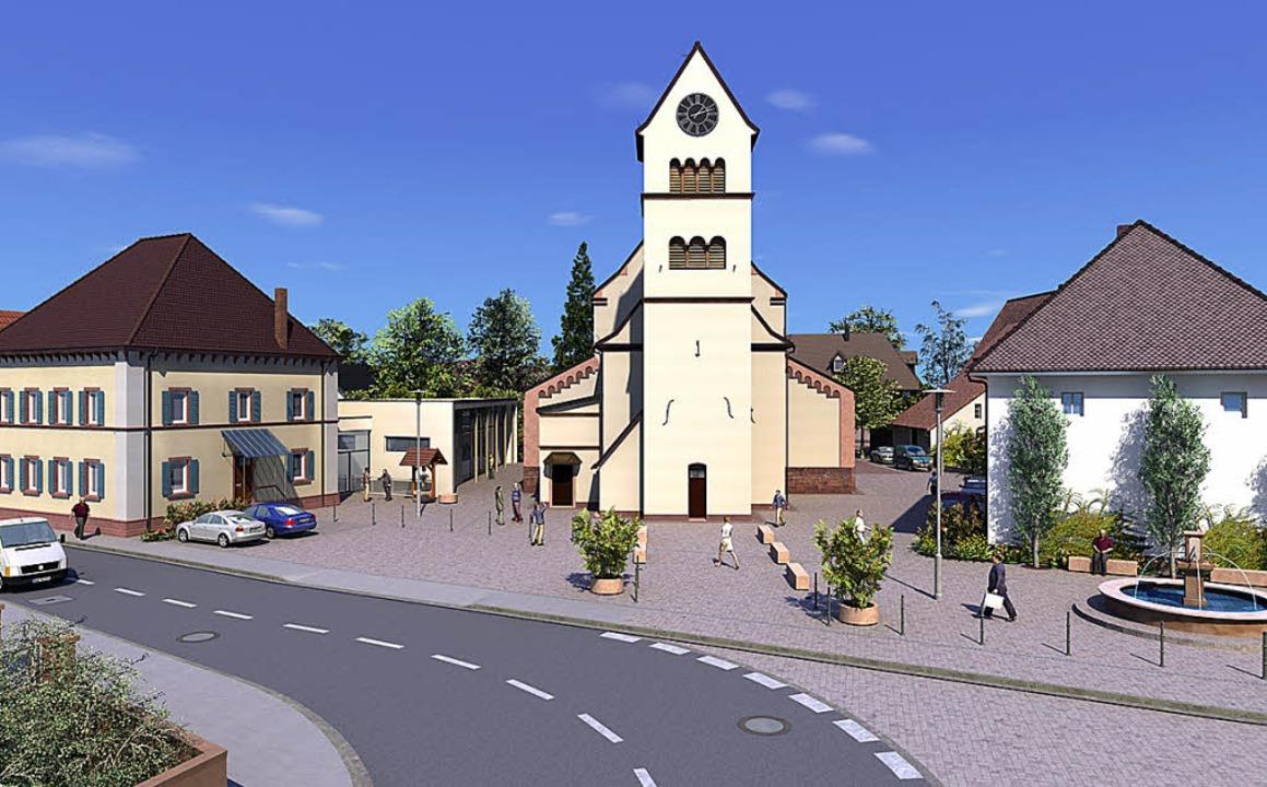 So könnte sie aussehen, die neugestalt...it dem Endinger Architekturbüro Hügel.  | Foto: Plantec-CAD, Freiburg/ Architekturbüro Hügel, Endingen