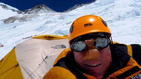 Richard Stihler im Lager 3 auf 7000  Meter Höhe
