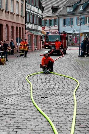 Die Leistungs�bungen der Feuerwehren aus dem Ortenaukreis in Ettenheim.