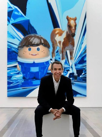 Mit seiner Kunst will Koons ein Massenpublikum erreichen.