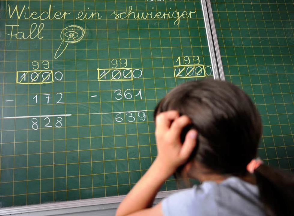 Mathe ist nicht immer leicht.   | Foto: dpa