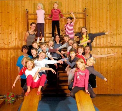 Von Kindesbeinen an: Der Turnverein Steinen bietet in 19 Abteilungen Fitness und Bewegung f�r Jung und Alt