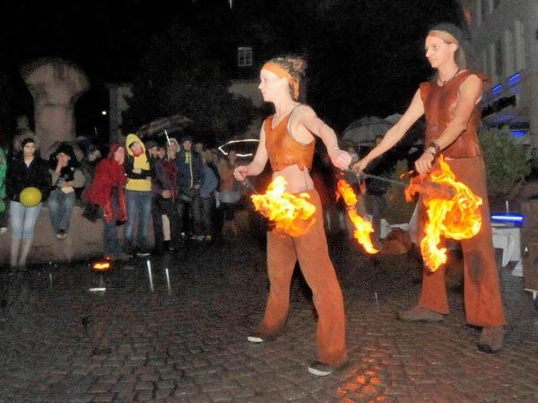 Faszination Feuer - das Phoenix Duo begeisterte nicht zum ersten Mal mit einer lebendigen Flammenshow