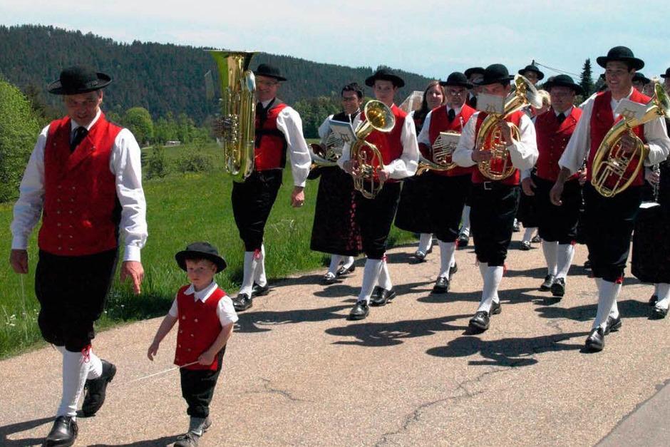 Einen vorbildlichen Nachwuchsdirigenten hatte die Trachtenkapelle Ibach-Wittenschwand mitgebracht (Foto: Karin Stöckl-Steinebrunner)