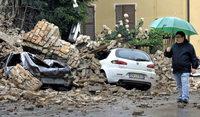 Zerst�rte Kirchen und Pal�ste in Italien