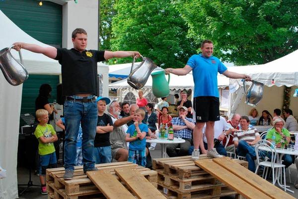 Impressionen vom Oberrotweiler Weinfr�hling und der Winzerolympiade