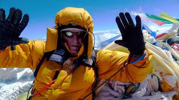 Richard Stihler ist am Ziel: auf  dem Gipfel des Mount Everest.
