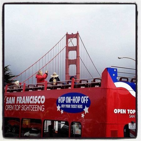 """Die Golden Gate Bridge in San Francisco feiert 75. Geburtstag. (Bilder entstanden mit dem Instagram """"LoFi""""-Filter)"""
