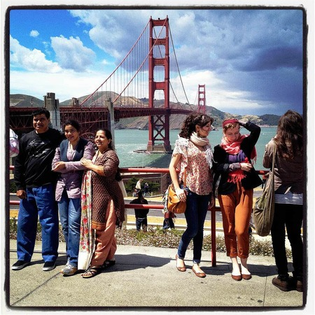 Touristen am 25. Mai 2012 an der Golden Gate Bridge.