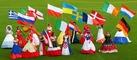 Werbegag: Ball-Kleider zur Fußball-EM.