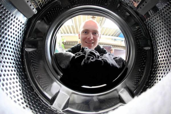 Er w�scht die schmutzige W�sche der Stars: Achim Topf von der Rock'n'Roll-Laundry