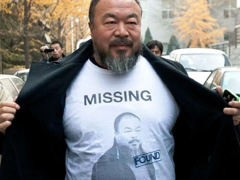 Streitbarer Künstler und Kämpfer: Ai Weiwei im November 2011   | Foto: dapd
