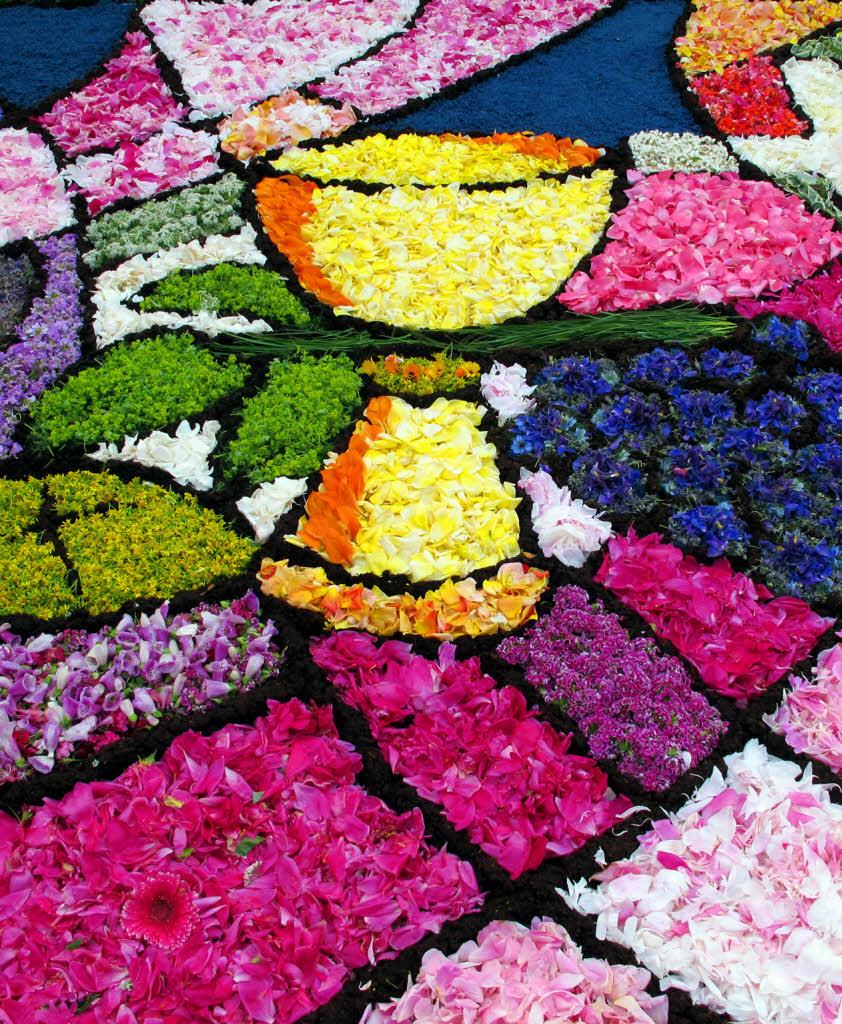 Rheinfelden Blumenteppiche machen viel Mühe  badische