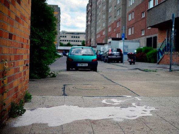 ... Verkehrskollaps in der Berliner Allee Ende 2014. Foto: Ingo Schneider