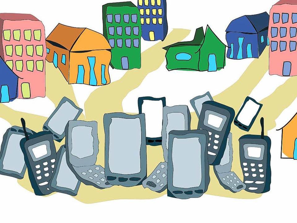 Abgelegte Handys sind wahre Schätze &#...ie bisher kaum wiederverwertet werden.    Foto: Josef Dresemann