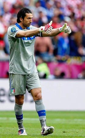 Italiens Torwart Gianluigi Buffon jubelt