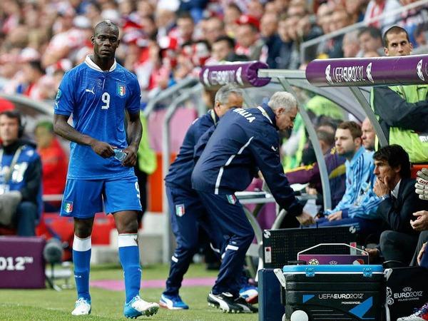 Wurde erneut ausgewechselt: Italiens St�rmer Bario Balotelli