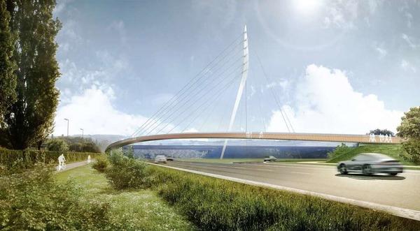 Der Sieger des Brücken-Wettbewerbs: die Ingenieure EiSat GmbH und Henchion Reuter Architekten aus Berlin.