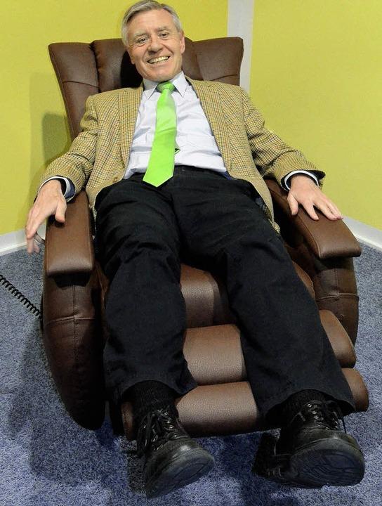 Er geht nach 24 Jahren in den Ruhestand: Oberbürgermeister Eberhard Niethammer.     Foto: Fotos: BZ