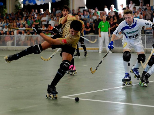 Weil am Rhein ist eine Hochburg im Rollhockey &amp;#8211; dementsprechend war die Stimmung beim Meisterschaftsfinale.