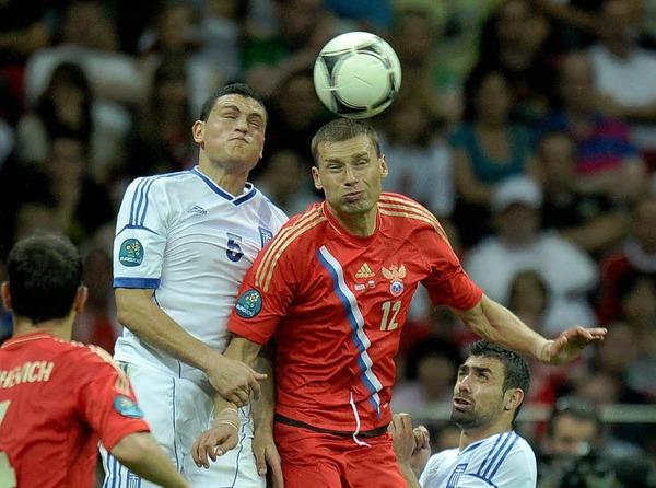 Alles Anrennen der Sbornaja n�tze nichts – Griechenland gewann 1:0