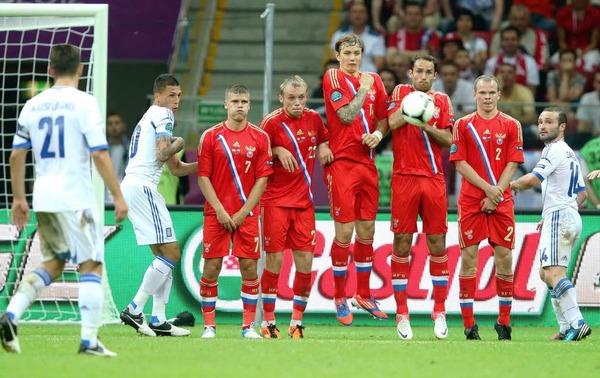 Alles Anrennen der Sbornaja nütze nichts - Griechenland gewann 1:0