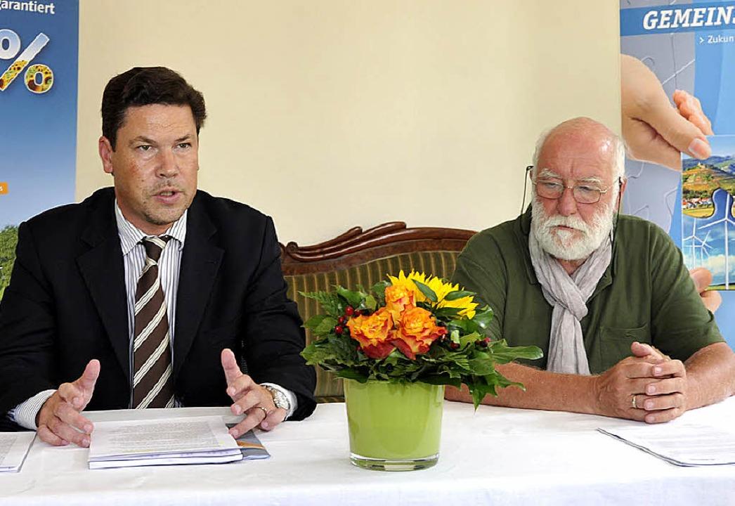 Stadtwerke-Geschäftsführer  Jochen Fis...dsteam Bürger-Energie-Genossenschaft.   | Foto: Münch