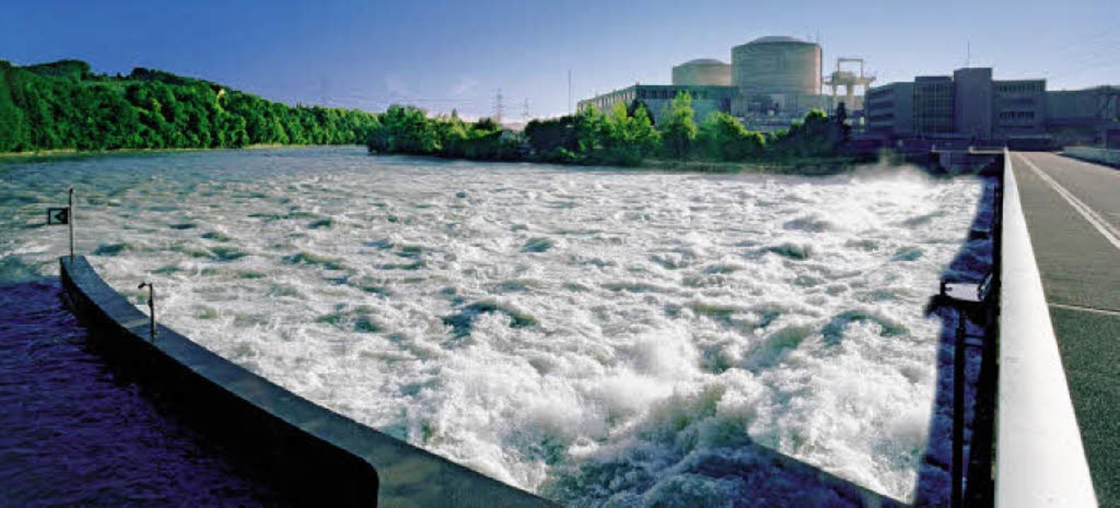 Das dienstälteste Atomkraft der Welt: ...KW Beznau unweit der deutschen Grenze     Foto: AXPO