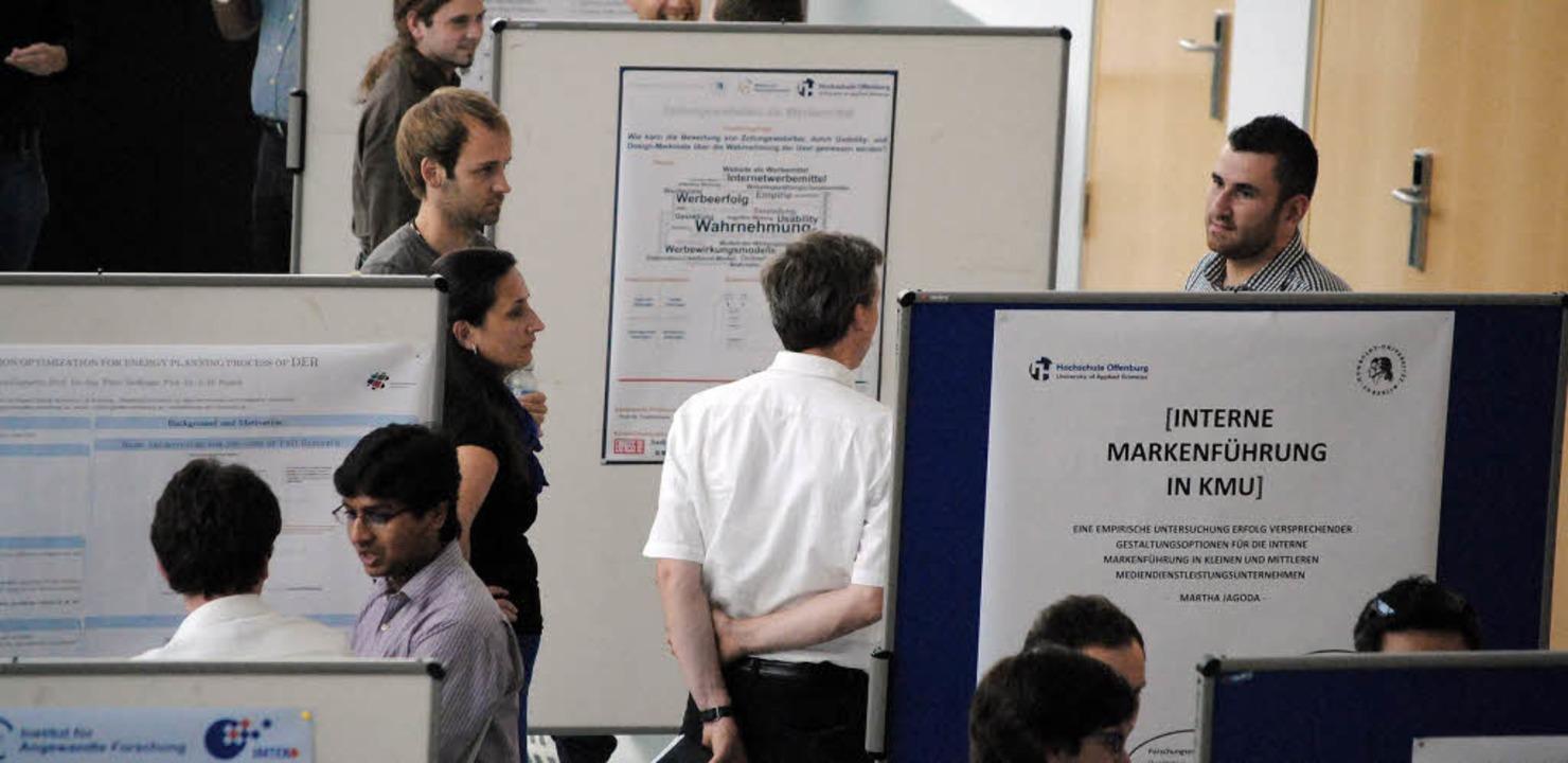 Einblicke in die Forschung gab's an der Hochschule Offenburg  | Foto: HS OG