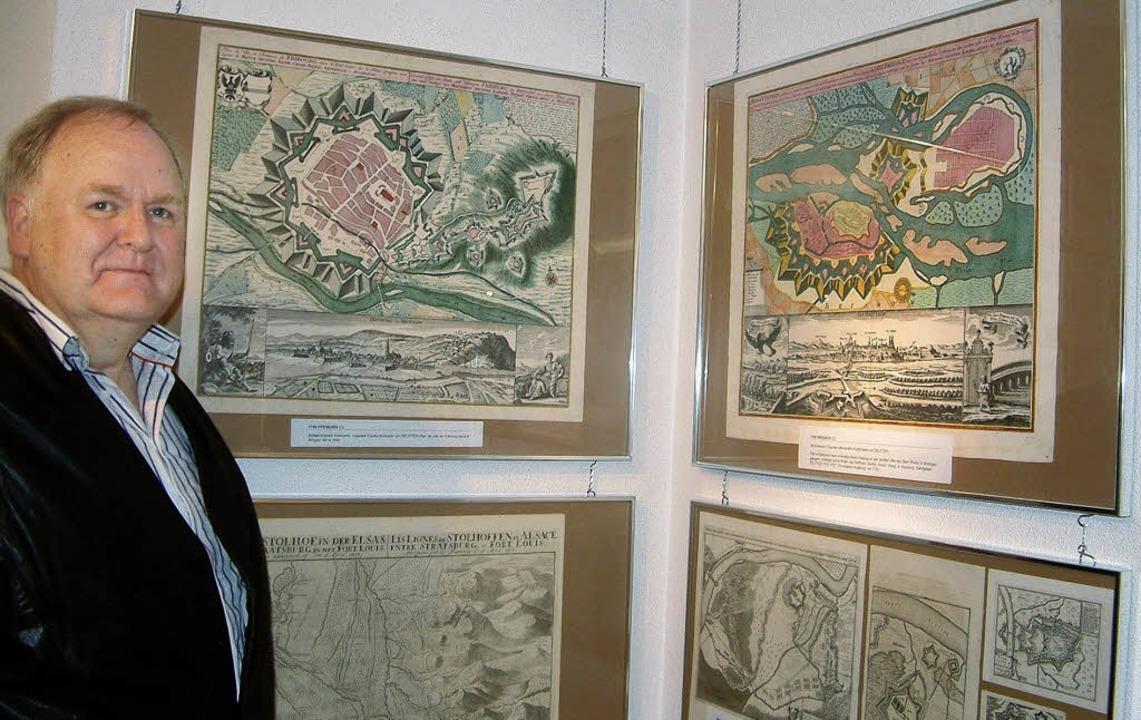 Historische Kupferstiche bilden einen ...220; im Städtischen Museum Schopfheim.    Foto: Roswitha Frey