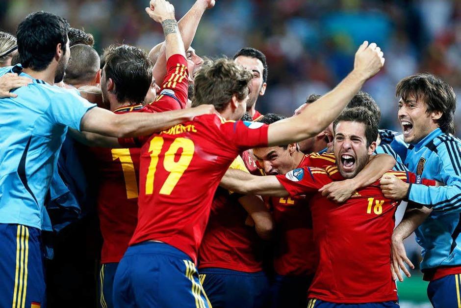 Fotos: Portugal – Spanien trennen sich 4:2 nach Elfmeterschießen<?ZE?> (Foto: dpa)