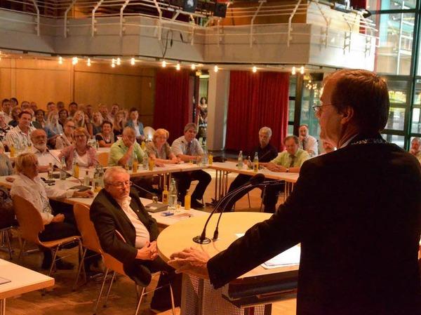 Die erste Rede von Klaus Eberhardt an den Gemeinderat.